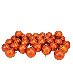 Orange ball ornaments