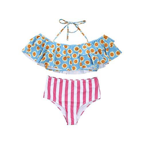 Family Swimsuit Mother Father Girls Boys One Pcs Swimwear Bikini Sets,B,Adult M