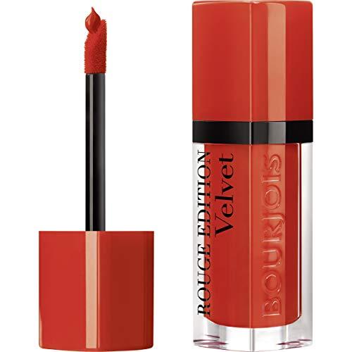 Bourjois - Rouge à lèvres Rouge Edition Velvet - Formule liquide - Fini mat et intense - Longue Tenue - 20 Poppy Days 7,7ml