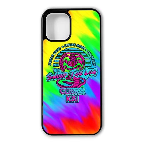 Cobra Eagle Fang Karate Schutzhülle für iPhone 12 (6,1 Zoll), 3D Customize Print Art Tough Armor Outdoor Shockproof Protector Matt Schwarz