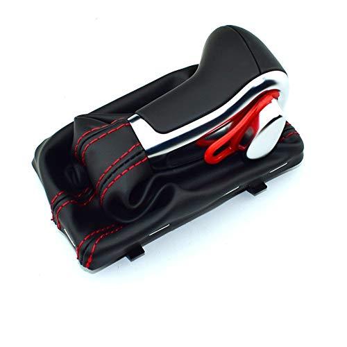 XMSM Schaltknauf FÜR Audi A6 A7 A3 A4 A5 A6 C6 Q7 Q5 2009 2010 2011 2012 2014 4G1 713 139 R-Leder-Chrom Schaltknauf Schaltknauf Automatik Schalthebel (Color : Red line Black)