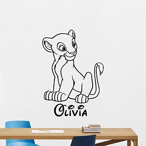 stickers muraux 3d Simba Decal Roi Lion Decal Nala Personnalisé Nom Decal Roi Lion Wall Art Décor À La Maison Enfants Enfants Filles Chambre Nursery Chambre Décor