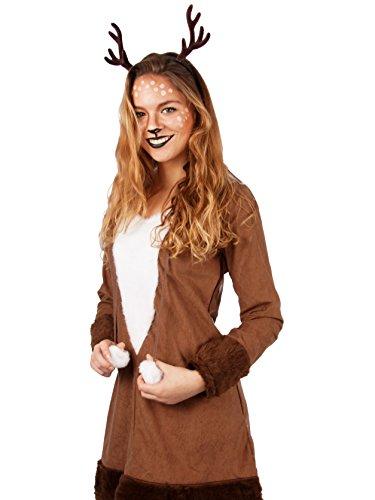 Andrea-Moden REH Kleid Rehkitz exklusiv Rehkostüm Kostüm Damen Tier Fasching NEU (36/38)