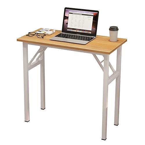 DlandHome Mesa Plegable Mesa de Ordenador Escritorio de Oficina 80x40cm Mesa de Estudio Puesto de Trabajo Mesas de Recepción Mesa de Formación,Gris/Negro