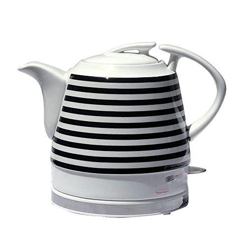 Hervidor de Agua Calentamiento Rapido Caldera electrica de ceramica Negro y negro rayas base desmontable Hervir la proteccion seca de las ebulliciones del agua rapido for preparar te cafe sopa de hari