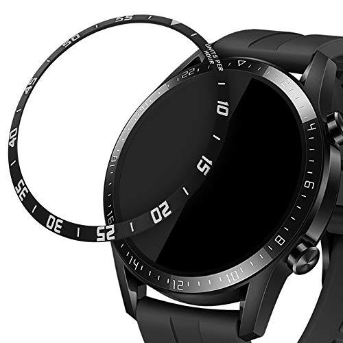kwmobile Protezione Display Compatibile con Huawei Watch GT2 (46mm) Fitness-tracker - Sticker Proteggi-schermo per Smart-Watch nero