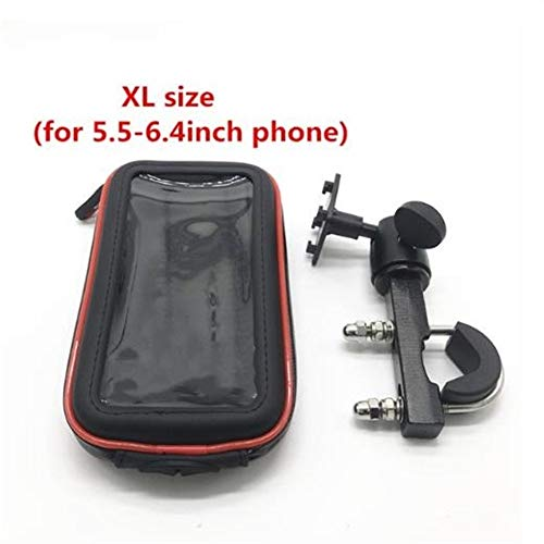 Sturdy Durable Motorcycle Phone Holder Mount Phone Stand Support for iPhone 7 5S 6 Plus for GPS Bike Holder with Waterproof Bag Soporte Movil Moto Convenient Practical (Colour : XL Size)