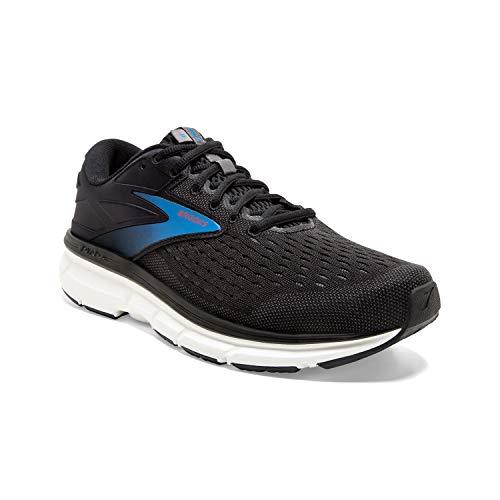 Brooks Mens Dyad 11 Running Shoe - Black/Ebony/Blue - D - 10.5