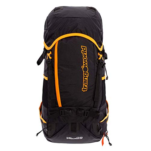 Trangoworld Mochila Ski Tour 28 Ft, Unisex, Negro/Flúor Orange, Talla única