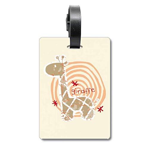 Etiqueta de identificación de Jirafa con diseño de Anillo de Animales, para Maleta de Crucero