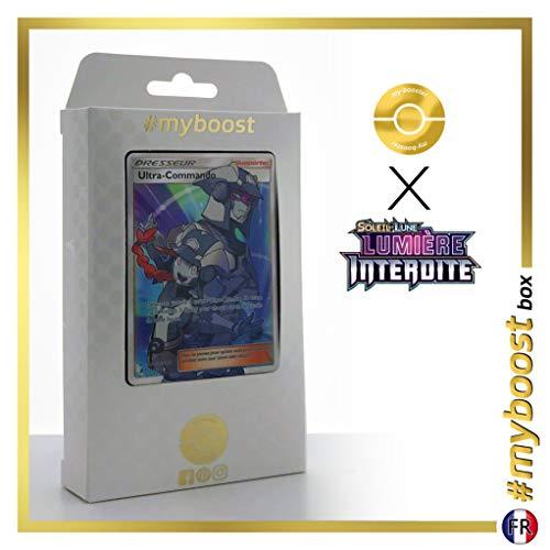 Ultra-Commando 131/131 Dresseur Full Art - #myboost X Soleil & Lune 6 Lumière Interdite - Coffret de 10 Cartes Pokémon Françaises