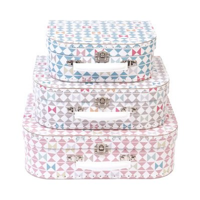 Sass and Belle by RJB Stone–Suitcase trolley set of 3Valisettes Geometrie