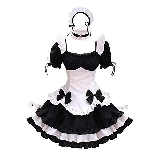 WWricotta French Maid Costume Dress kostüm Sexy Lolita Kleid Uniform Cosplay Kostüm French Maid Outfit Halloween