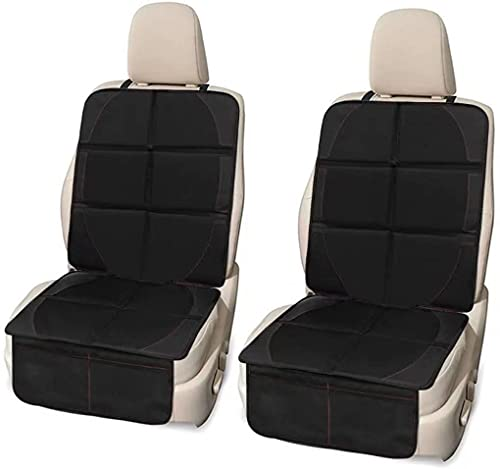 Car Seat Cover 2 Pack Universal Fit Car Seat Protector 600D Waterproof Eeasy to Clean and Confortable Thick Padding with Non-Slip Silicon Bottom and Two Handy Organizer Pockets