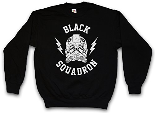 Urban Backwoods Black Squadron Vintage II Sweatshirt Pullover Sweater Pull Noir Taille L