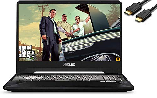 ASUS TUF A15 15.6' IPS 144Hz FPS FHD Gaming Laptop (AMD 4-Core Ryzen 7-3750H(Beat i7-7700H), RTX 2060, 32GB DDR4 RAM, 512B PCIe SSD + 1TB HDD) RGB Backlit Keyboard, Windows 10 Home, IST HDMI Cable