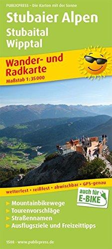 Stubaier Alpen, Stubaital, Wipptal: Wander- und Radkarte mit Ausflugszielen & Freizeittipps, wetterfest, reißfest, abwischbar, GPS-genau. 1:35000 (Wander- und Radkarte: WuRK)
