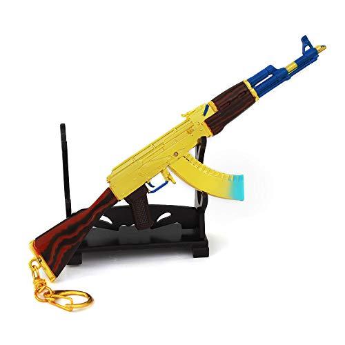 Modelo De Espada Llavero Rifle Colección De Armas De Metal Figura Regalo Artesanía Prop Acción Mini Artes Niños Niños (AK47)