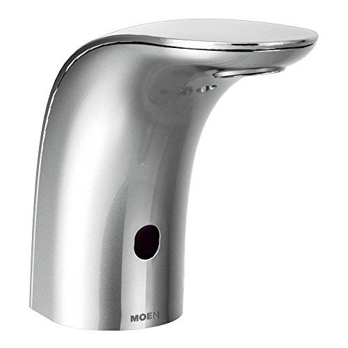 Moen 8553AC Mpower Sensor Operated Single Mount Above Deck Lavatory High Arc Ac Powered Non Mixing Faucet, Chrome