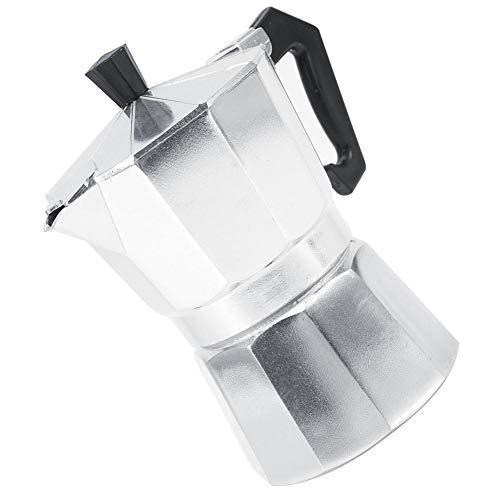 Espressokocher, wiederverwendbar Kaffee Maker Aluminium Moka Pot Kaffekocher für Haus, Büro,200ml 2 Tassen
