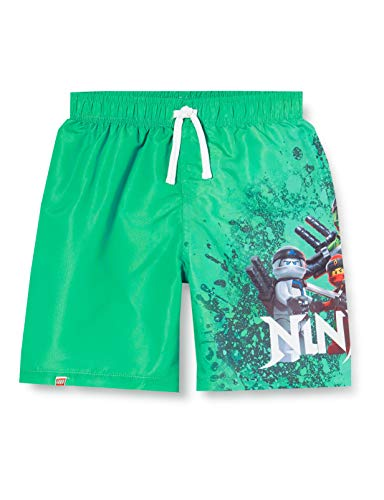 LEGO Jungen cm Ninjago Badeshorts,per Pack Grün (Green Melange 800),104 (Herstellergröße:104)
