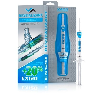 XADO EX120, aditivo para aceite de dirección asistida hidráulica con Revitalizant concentrado, protege y recupera las superficies desgastadas de los sistemas hidráulicos