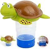 Floating Chlorine Dispenser, Pool SPA Chlorine/Bromine Floater, Floating Chlorinator & Bromine Holder Fits 3 Inch Chemical Tablets (Turtle)