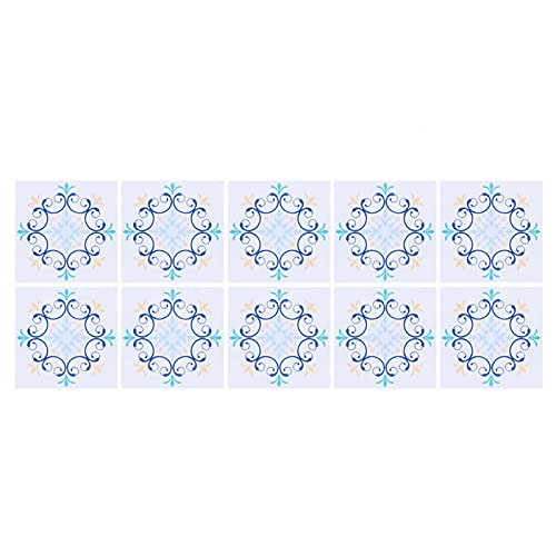 YIFengFurun Papel pintado, patrón de flores único, impermeable, protector de baño, cocina, azulejos de pared para decoración de baño y cocina, 10 unidades (7)