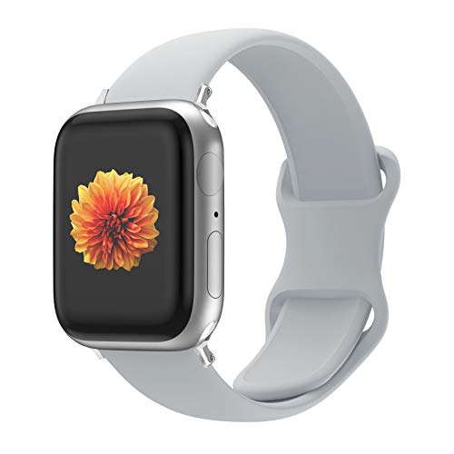 Desconocido Correa de Reloj Compatible con Apple Watch 44 mm 42 mm 40 mm 38 mm, Correa de Repuesto de Silicona Suave y Agradable para la Piel, Compatible con la Serie iWatch 5/4/3/2/1