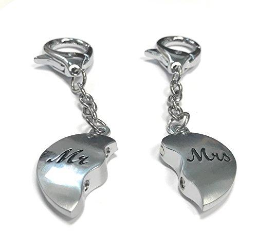 Porte-clés Duo amitié ' Toi et Moi ' - 2 moitiés d'un coeur - neuf