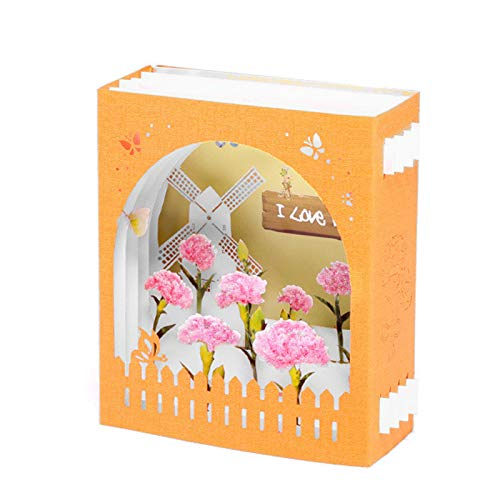 Huaji 3D Mothers Day Pops Up Cards Beautiful Flowers Card Card Thank Greeting Card for Mother