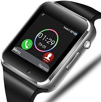 Sazooy Bluetooth Smart Watch with Camera Pedometer SIM SD Card Slot