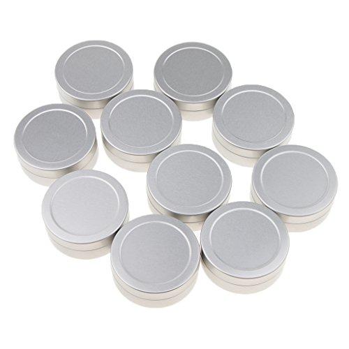 Milageto 10 X Aluminio Vacío Cosméticos Latas Bálsamo Bálsamo Tarro Envase Tapa 25g