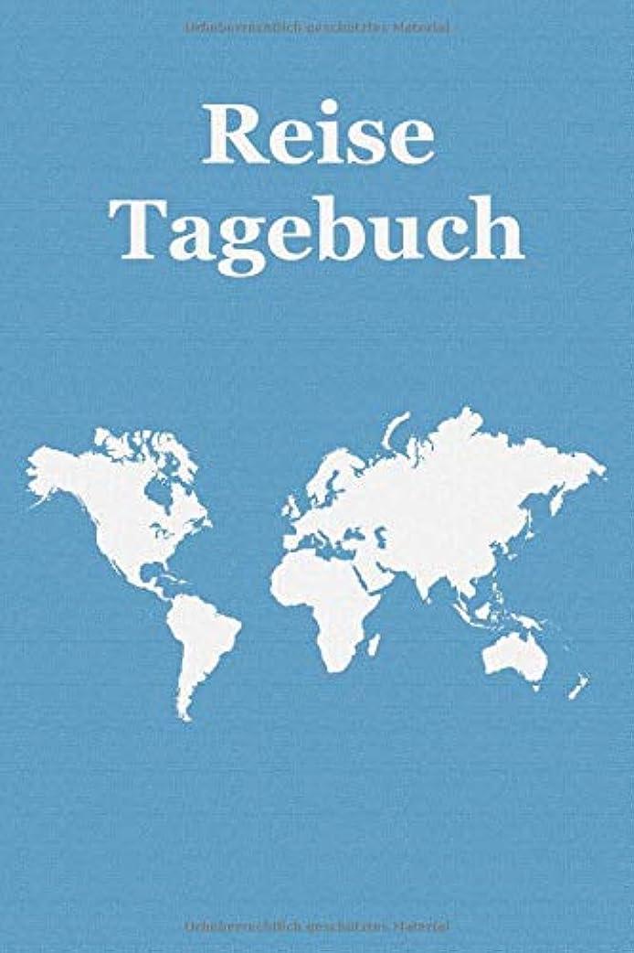 ギャップ残り物対応Reisetagebuch: Notizbuch zum Eintragen der Reiseerlebnisse I 124 Seiten Punktraster mit Inhaltsverzeichnis I Weltkarte blau