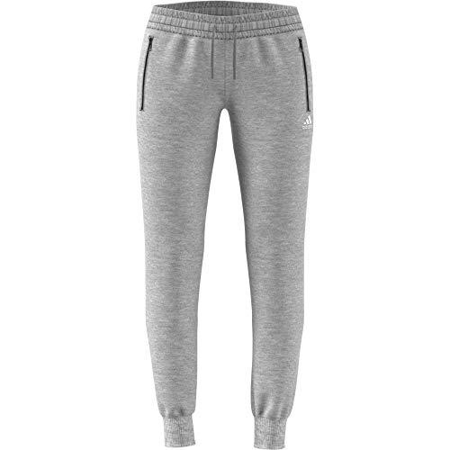 adidas Damen Sports ID S Jogger Hose, Medium Grey Heather/White, XS
