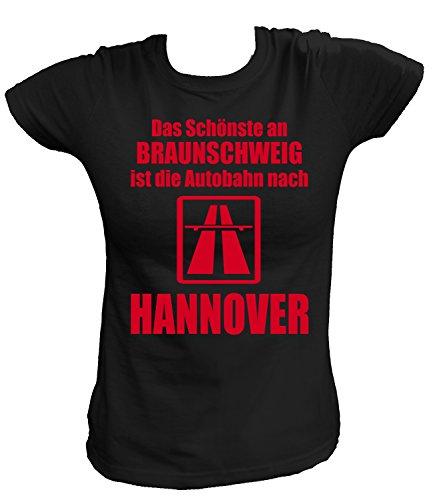 Artdiktat Herren Hoodie - Anti Braunschweig Größe XXL, schwarz