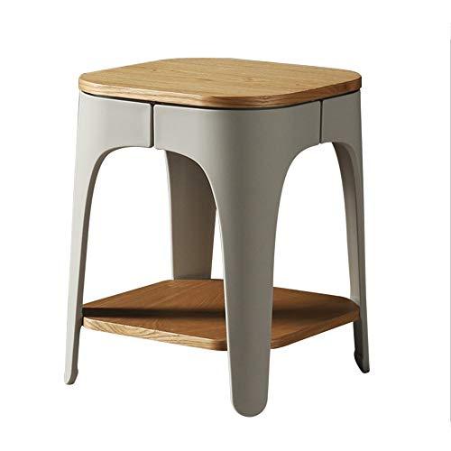 Tables HAIZHEN Pliable Petite Ronde en Bois Massif de Rangement Simple, 35.5 * 35.5 * 45cm Stations de Travail informatiques