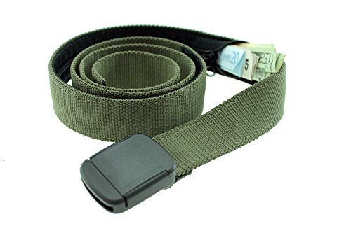 Hiker Money Belt Made in USA by Thomas Bates (Olive)