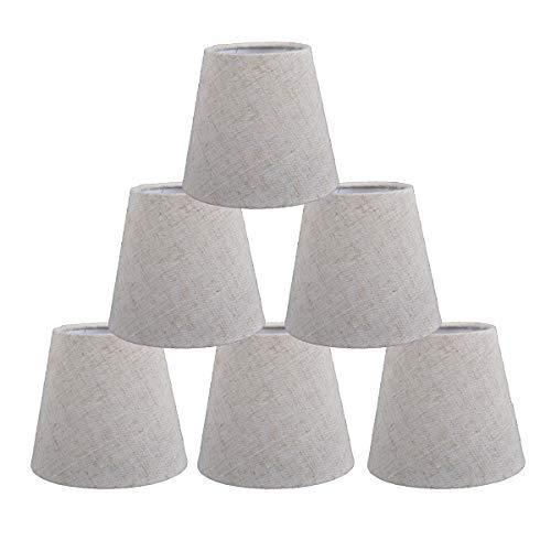 Kroonluchter kristallen lamp shades, kleine klemmen op lampenkappen 6 stuks set voor bars Ristorant Decoratie Droplight wandlamp van de bedkant 9 x 14 x 13 cm