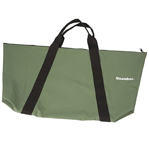 Snowbee Tough PVC 100% Waterproof Wet Sack with Strong Zipped Closure & Welded Seams - Olive Green, Small