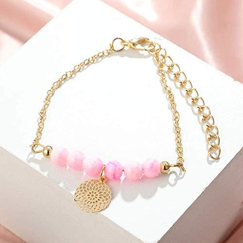 Stijlvolle eenvoud juwelen metalen liefde/kaart bloem parel bal armband armband vijfdelige set, MN