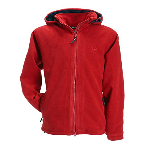BMS Fleece Windsmoother Kapuzen-Jacke, Rot, Größe L
