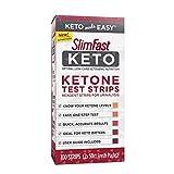 SlimFast Keto Ketone Test Strips, Pantry Friendly, 100 Count Box