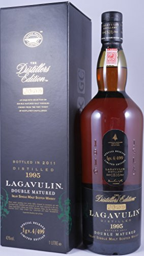 Lagavulin 1995 16 Years The Distillers Edition 2011 Double matured in Pedro Ximenez Sherry Wood Special Release lgv.4/499 Islay Single Malt Whisky 43,0% Vol. - seltene 1,0 Liter-Abfüllung!