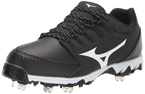 Mizuno 320588.9000.03.0500 9-Spike Swift 6 Low Womens Metal Softball Cleat Black-White (9000) 5 (0500)