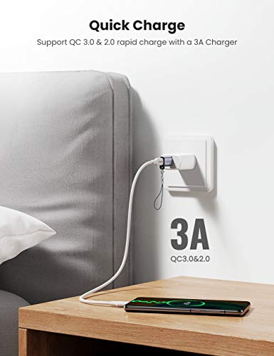 UGREEN USB C Adapter USB A Stecker auf USB C Buchse 3.1 Typ C USB Adapter für MacBook, Chromebook Nexus 5X, Note8, Laptop, Tablet, Laptop, USB Ladegrät, Aluminium Gehäuse