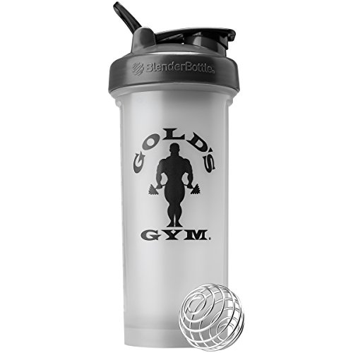 Blender Bottle Gold's Gym Pro 45 oz. Shaker Bottle with Loop Top - Gray/Black