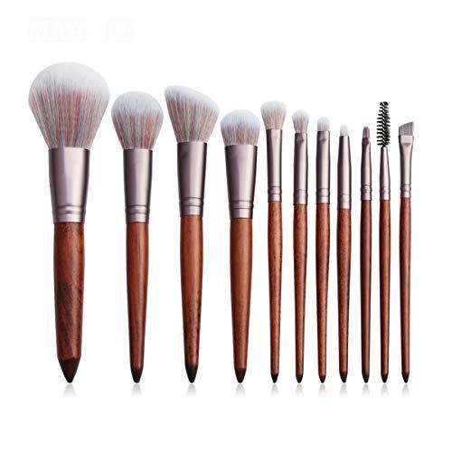 SNUIX Maquillage Pinceaux for cosmétiques de teint en poudre fard à joues fard à paupières Blending composent la brosse Beauté kits d'outils, 10/11 / 12Pcs / Set (Couleur : 11Pcs, Size : One Size)