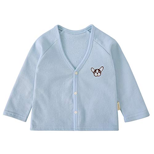 pureborn Baby Boys Cardigan Cotton Sweater Spring Fall Top Cartoon Blue Bulldog 12-24 Months