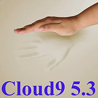 5.3 Cloud9 King 4 Inch 100% Visco Elastic Memory Foam Mattress Topper